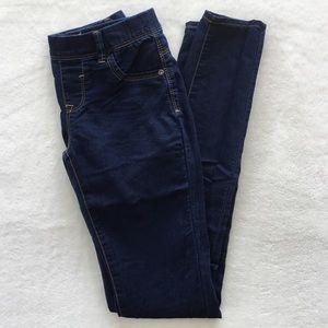 Dark blue skinny stretchy jeans